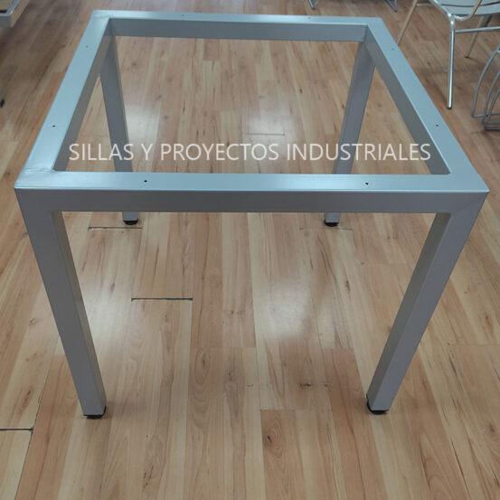 Base para mesa cuadrado color gris para 4 personas